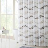 VCNY Dot Wave PEVA Shower Curtain, Bath Rug & Hook Set