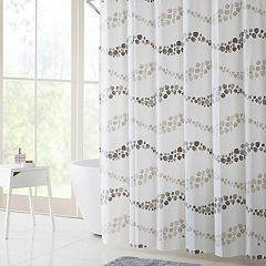 VCNY Dot Wave PEVA Shower Curtain, Bath Rug & Hook Set