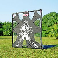 Net Playz 6'X6' Portable Fiberglass Lacrosse Goal with Target Panel