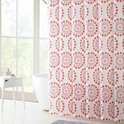 VCNY Maysam PEVA Shower Curtain, Bath Rug & Hook Set