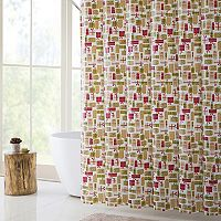 VCNY Merry Gifts PEVA Shower Curtain, Bath Rug & Hook Set