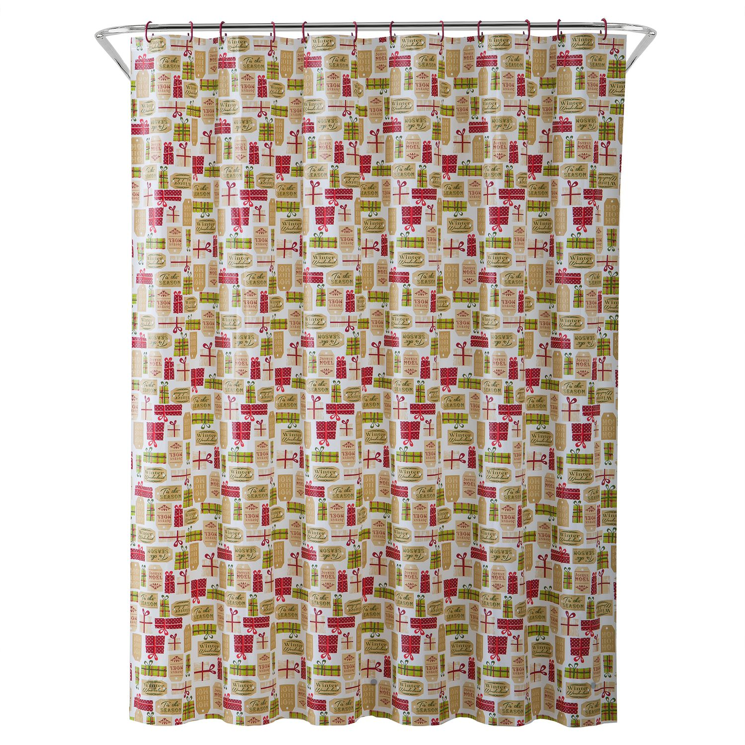 Shower Curtains Christmas Accessories