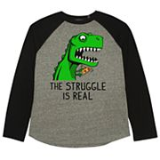 Boys 8-20 'The Struggle Is Real' T-Rex Tee