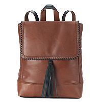 ili Leather Whipstitch & Tassel Backpack