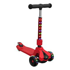 Jetson Saturn Red Three-Wheeled Light-Up Scooter