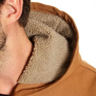 Men's Stanley Canvas Sherpa-Lined Hooded Jacket