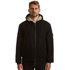 Big & Tall Stanley Canvas Sherpa-Lined Hooded Jacket