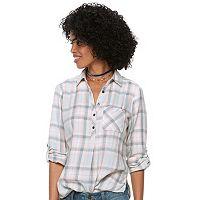 Petite SONOMA Goods for Life™ Button Printed Shirt