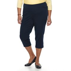 Plus Size Croft & Barrow® Polished Pull-On Capris