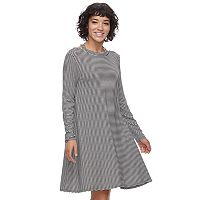 Juniors' SO® Keyhole Back Swing Dress