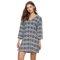 Women's Apt. 9® Hooded Medallion Cover-Up