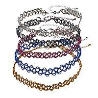 Mudd® Tattoo Choker Necklace Set
