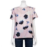 Juniors' Grayson Threads Floral Tiered Sleeve Top