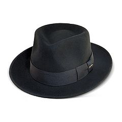 abfc4f5e7b5 Men s Scala Wool Felt Grosgrain Fedora. Black Gray. sale