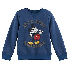 Disney's Mickey Mouse Boys 4-7x 'Let's Stay Awesome' Softest Fleece Pullover Sweatshirt by Jumping Beans®