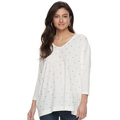 Women's Jennifer Lopez Embellished Dolman Top