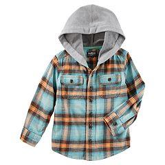 Boys 4-12 OshKosh B'gosh® Flannel Plaid Hooded Shirt