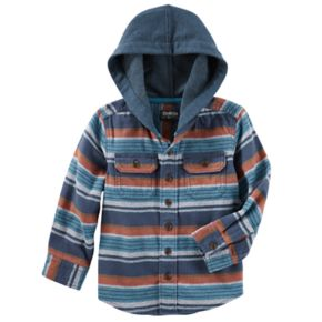 Boys 4-12 OshKosh B'gosh® Flannel Plaid Hooded Shirt