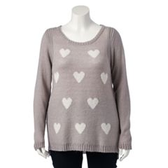Plus Size LC Lauren Conrad Lace-Up Crewneck Sweater