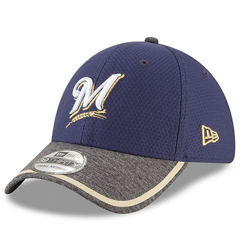 Adult New Era Milwaukee Brewers 39THIRTY Tinted Trim Flex-Fit Cap