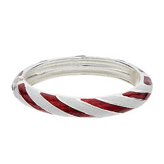 Candy Cane Striped Bangle Bracelet