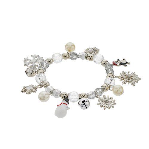 Winter Bead Stretch Bracelet