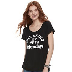 Juniors' Awake 'Breaking Up With Mondays' Graphic Tee
