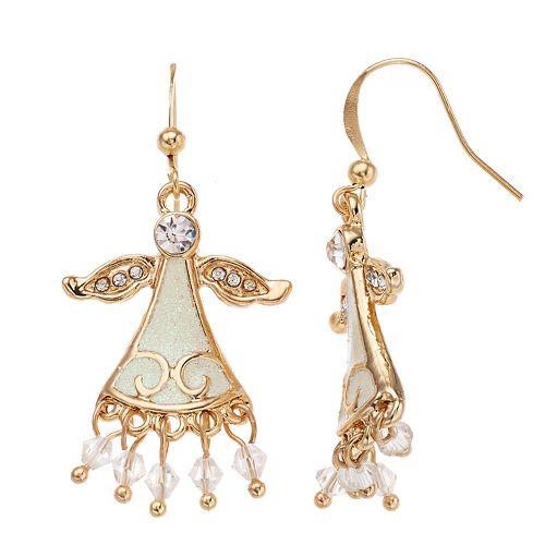 Angel Nickel Free Fringe Drop Earrings