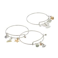 Christmas Charm Bangle Bracelet Set