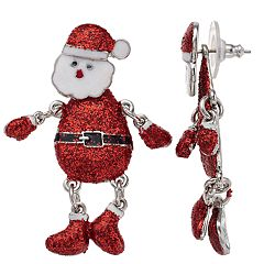 Santa Snowmen Nickel Free Drop Earrings