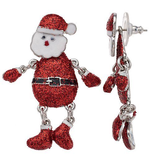 Santa Snowmen Nickel Free Drop Earrings