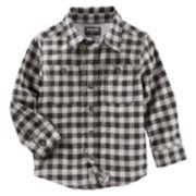 Boys 4-12 OshKosh B'gosh® Flannel Plaid Button Down Shirt