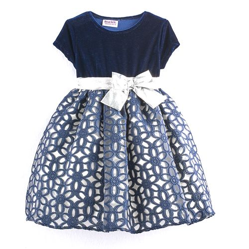 Baby Girl Blueberi Boulevard Floral Geometric Dress