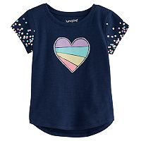 Toddler Girl Jumping Beans® Heart & Sequin Graphic Tee