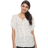 Women's Apt. 9® Pleat Neck Top