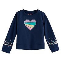 Toddler Girl Jumping Beans® Heart & Sequin Graphic Pullover Sweater