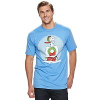 Big & Tall Peanuts Snoopy Flying Ace Holiday Tee