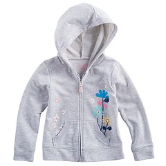 Toddler Girl Jumping Beans® Flower Zipper Hoodie
