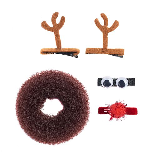 Holiday Reindeer Hair Accessories Set