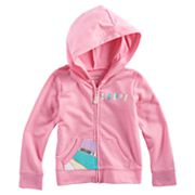 Toddler Girl Jumping Beans® 'Happy' Colorblocked Heart Zipper Hoodie