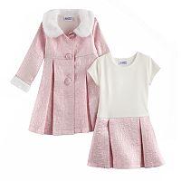 Baby Girl Blueberi Boulevard Sparkly Dress & Jacket Set