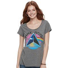 Juniors' Pink Floyd Graphic Tee