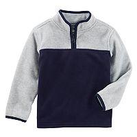 Boys 4-12 OshKosh B'gosh® Colorblock 1/4 Zip Pullover Fleece Top