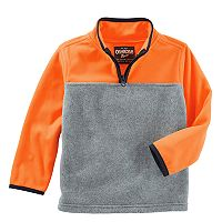 Boys 4-12 OshKosh B'gosh® Colorblock 1/4 Zip Pullover Fleece Top