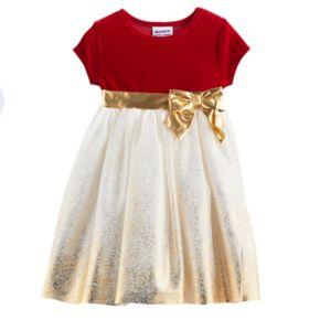 Toddler Girl Blueberi Boulevard Sparkle Velvet Dress