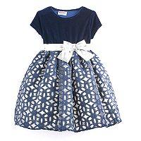 Toddler Girl Blueberi Boulevard Floral Geometric Dress