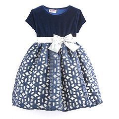 Toddler Girl Blueberi Boulevard Floral Geometric Dress