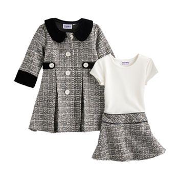 8b9b60e127bc Toddler Girl Blueberi Boulevard Tweed Coat Set