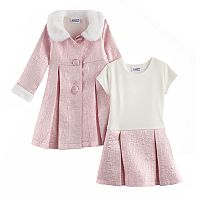 Toddler Girl Blueberi Boulevard Sparkly Dress & Jacket Set