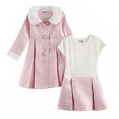 Toddler Girl Blueberi Boulevard Sparkly Dress & Jacket Set